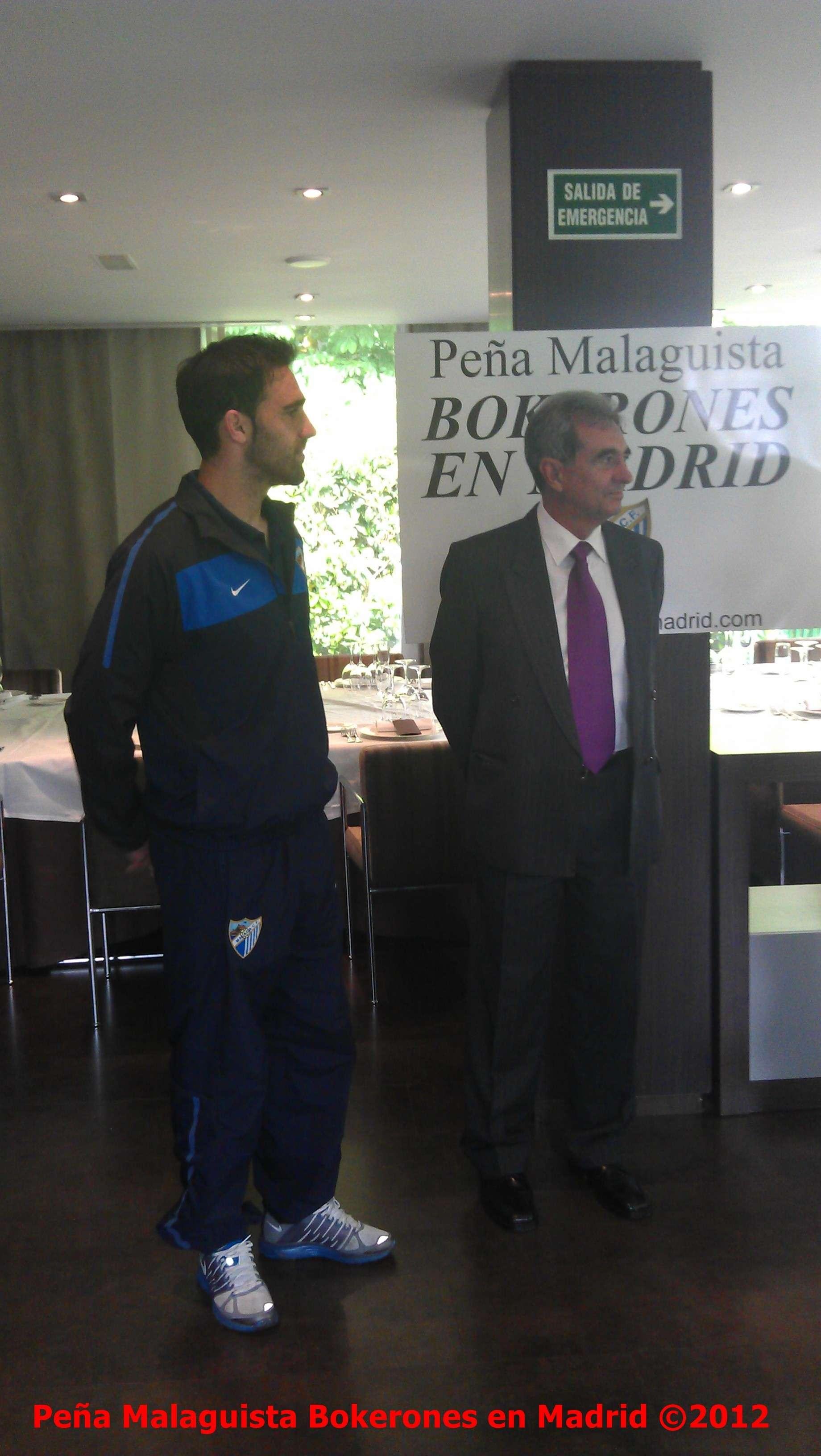 La Peña Malaguista Bokerones en Madrid entregará placa a Jesús Gamez Actobe11