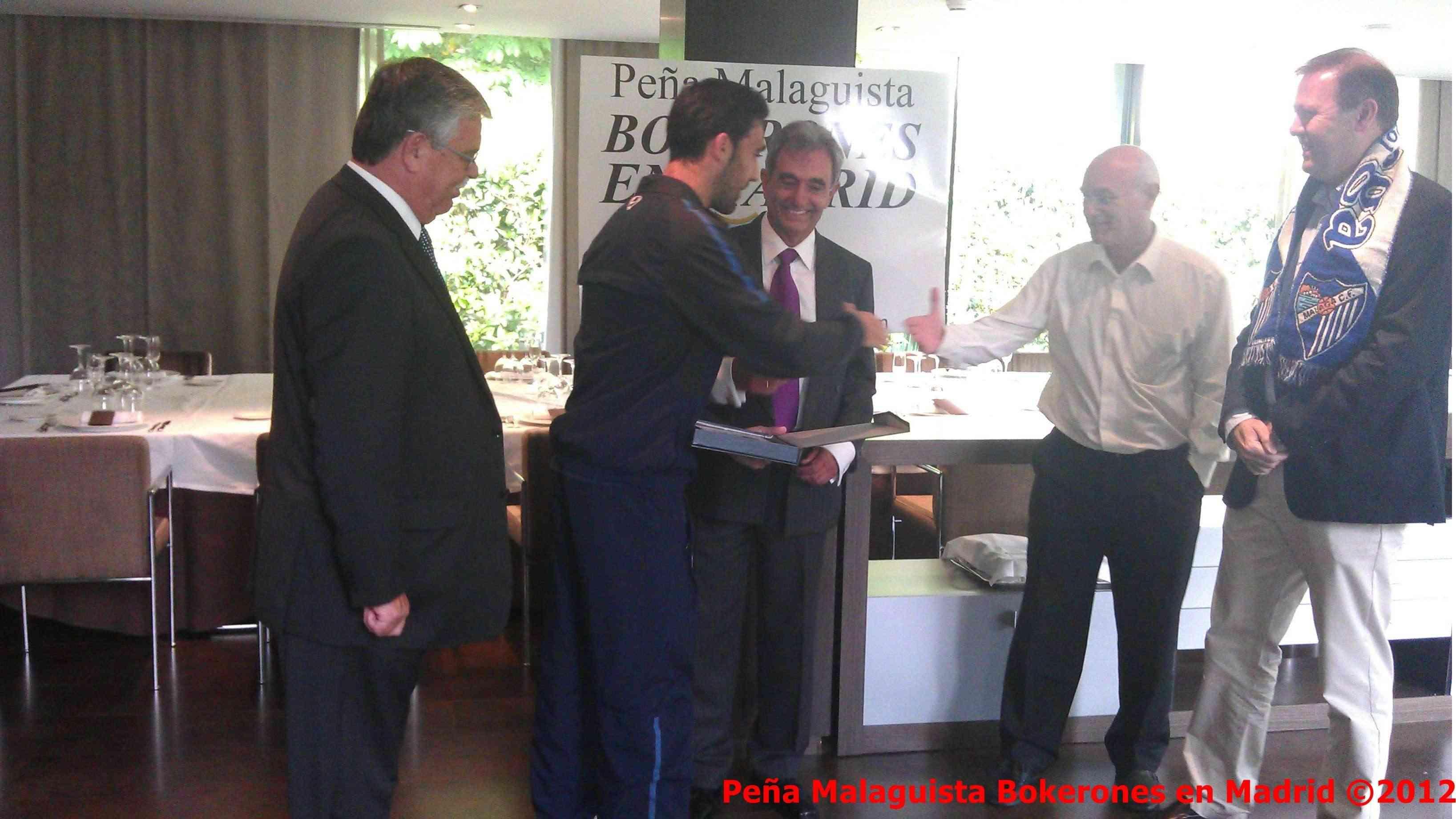 La Peña Malaguista Bokerones en Madrid entregará placa a Jesús Gamez Actobe13