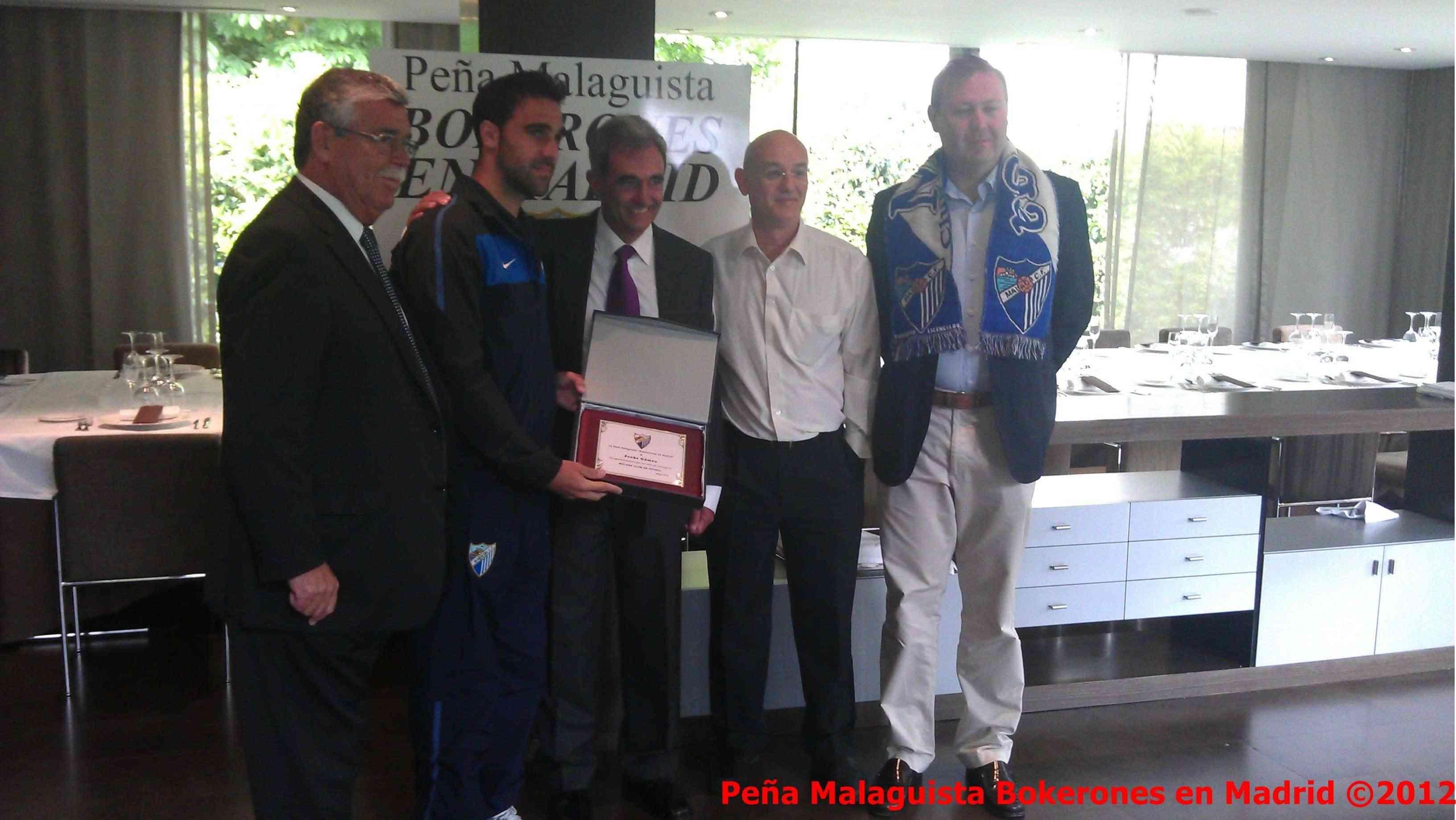 La Peña Malaguista Bokerones en Madrid entregará placa a Jesús Gamez Actobe14