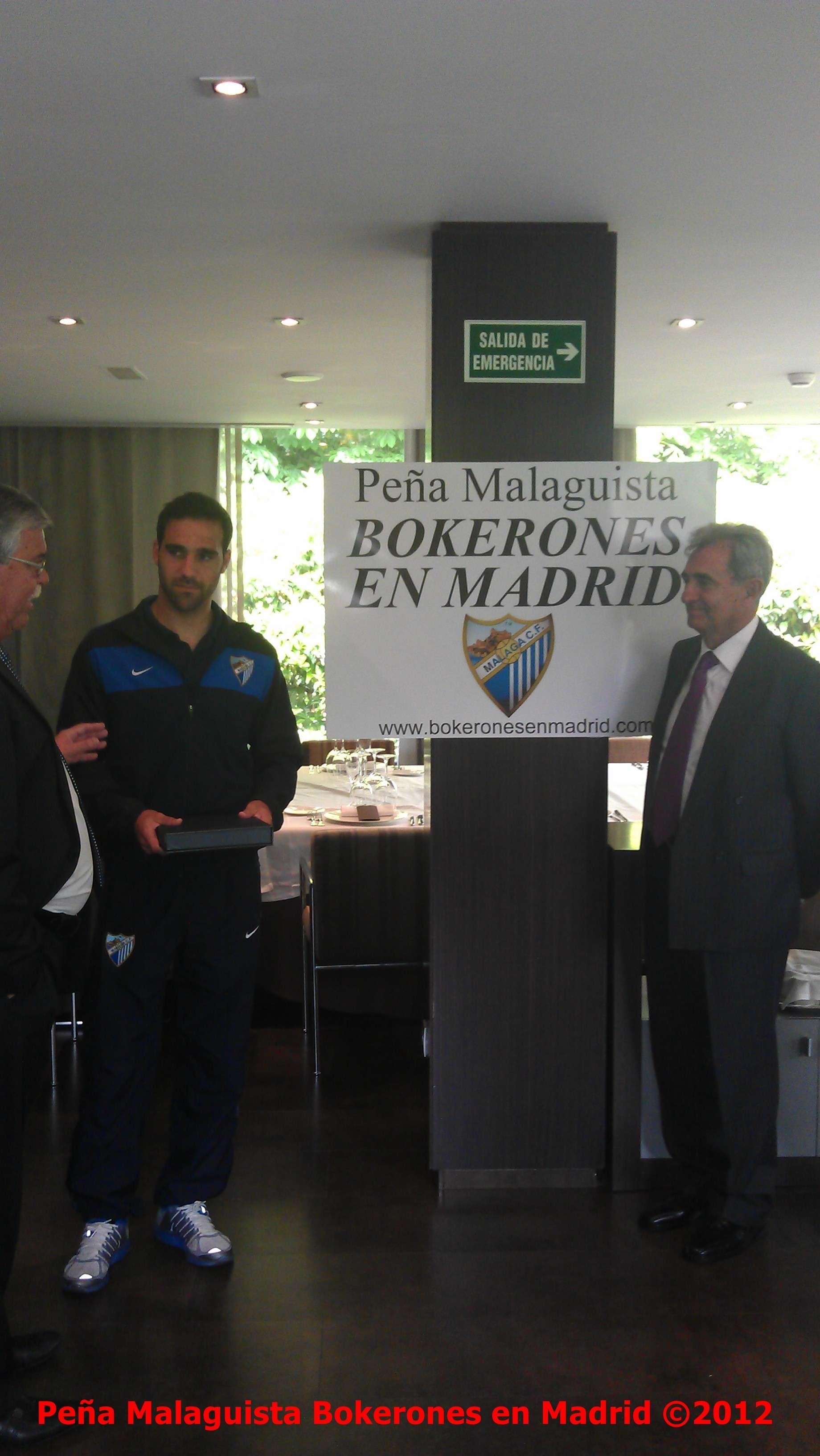 La Peña Malaguista Bokerones en Madrid entregará placa a Jesús Gamez Actobe16