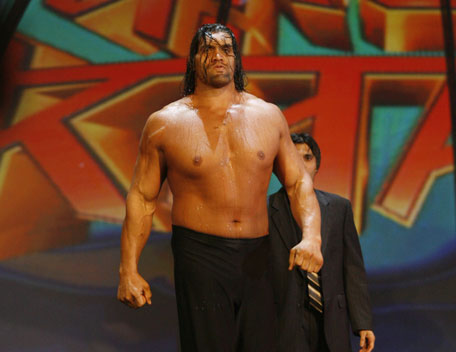 the gread khali vs Triple H for the european title Khlai011