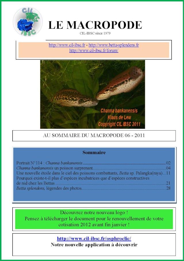 Sommaire de la revue du Macropode. 2011-013