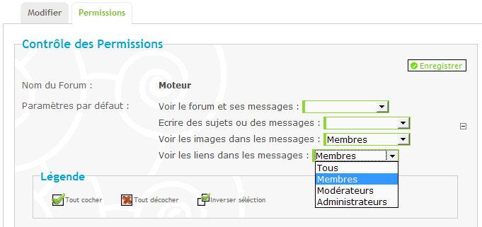[Permissions] Permission des URL et images pour les groupes Image212