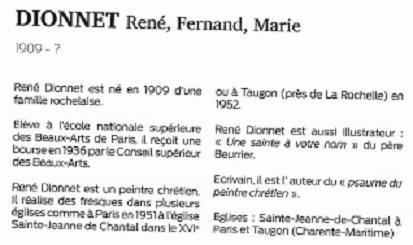 René Dionnet, peintre français d'art profane Dictio11