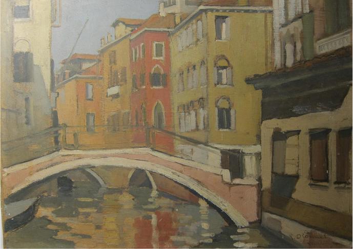 René Dionnet, peintre français d'art profane Dionne12