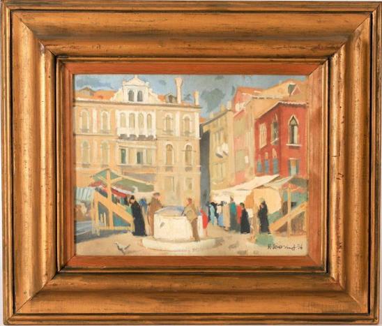 René Dionnet, peintre français d'art profane Vue_de12