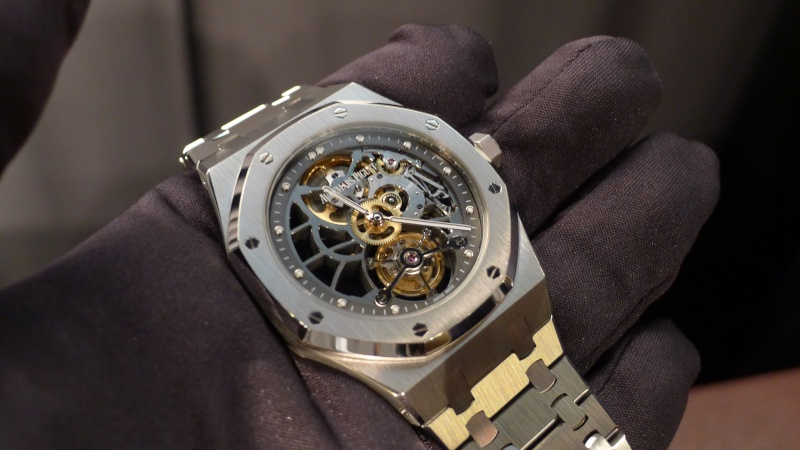 SIHH 2012 - Audemars Piguet Royal Oak Squelette et  Royal Oak Tourbillon Squelette 40 ans L1010013