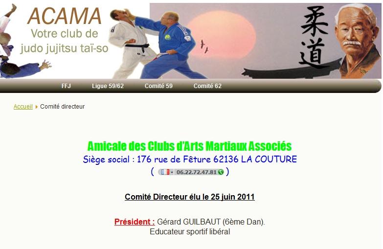 Mr Gérard Guilbault peut il être président du CD 62, et professeur de judo BE rémunéré ? Non ! Garard10