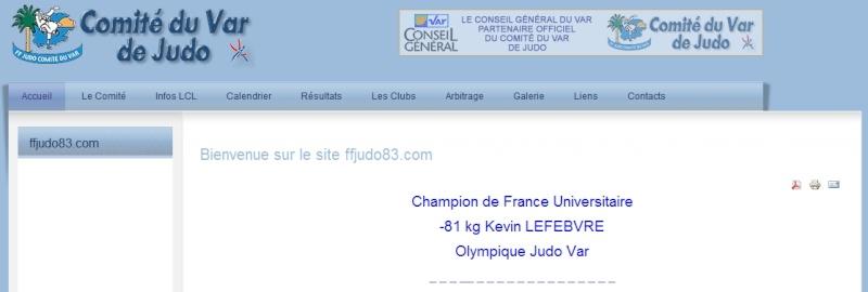 L'Olympique Judo Var, le meilleur club Varois censuré et punis de classement par Mr Contraire. Kavin_10