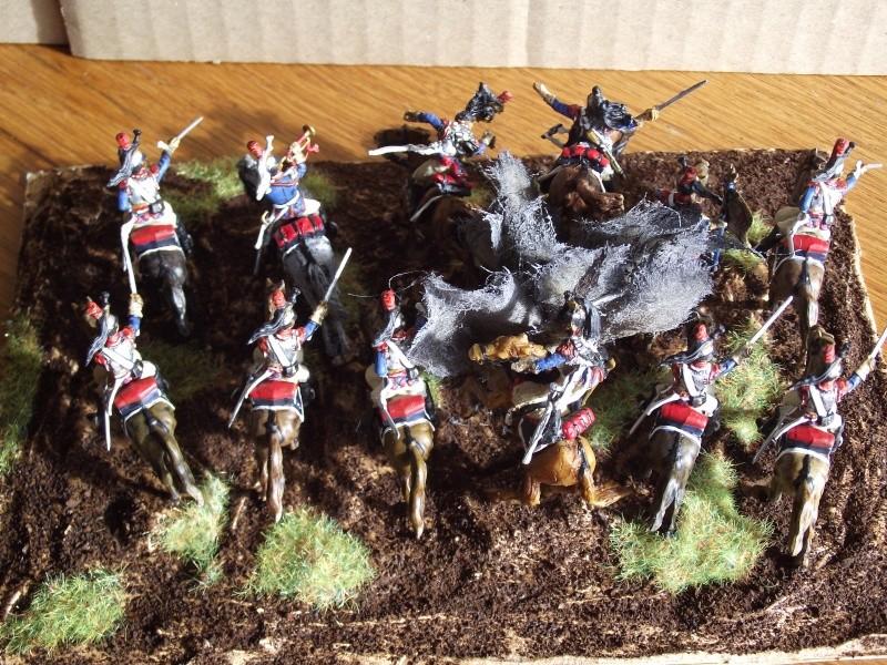 Diorama - 1er régiment de cuirassiers Dessus10