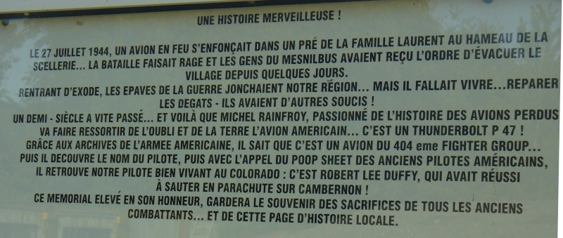 Monument WW2 - Le Mesnilbus ( Manche - Normandie ) P1080525