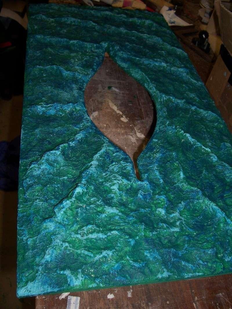 (preparation ) diorama ; 1780  cotre  pirate  en  mer d'iroise  100_4204