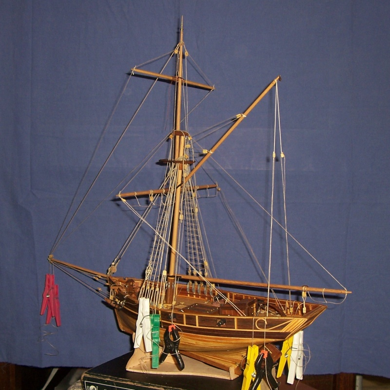 Cotre  de  contrebande 1780   (ex Camaret , 1/35e  kit  constructo  100_4294