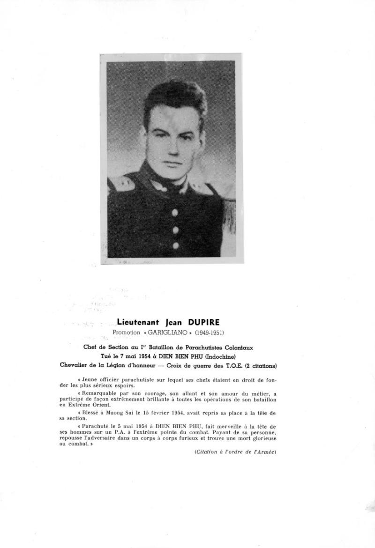 Lieutenant Jean DUPIRE MPLF le 7 mai 1954 Dien Bien Phu 1 er BPC Dup_ki10