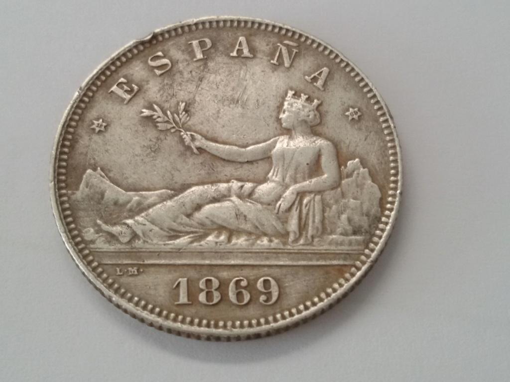 2 pesetas 1869. Gobierno Provisional. Opinión 20180917