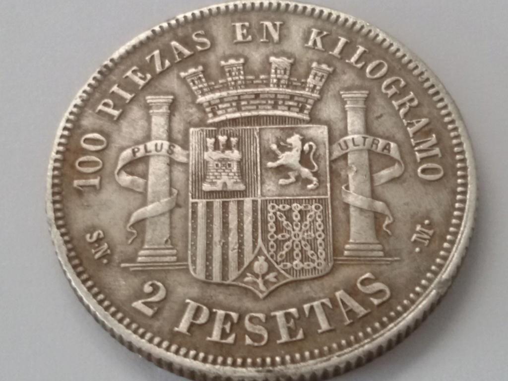 2 pesetas 1869. Gobierno Provisional. Opinión 20180918