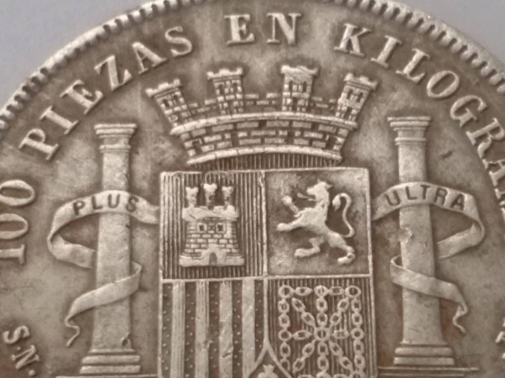 2 pesetas 1869. Gobierno Provisional. Opinión 20180921