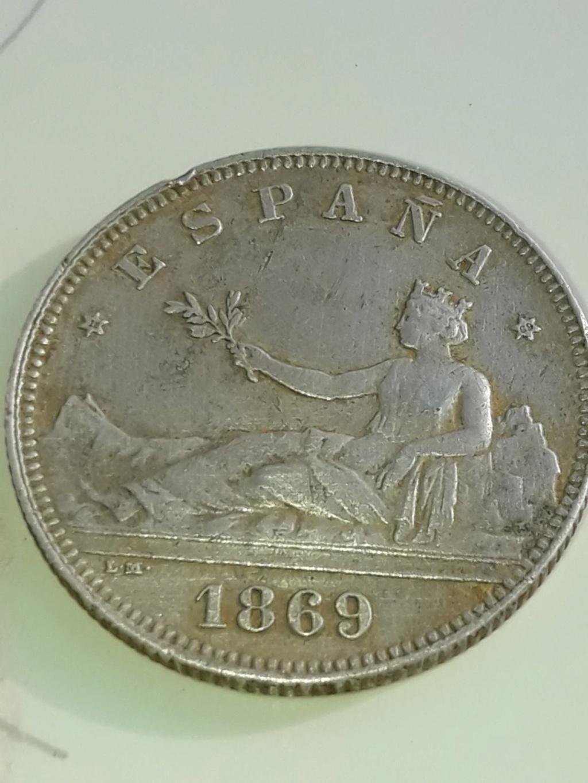 2 pesetas 1869. Gobierno Provisional. Opinión Img-2012