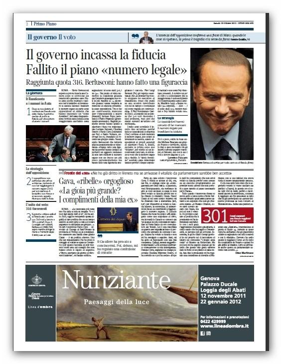 """Sabato 15 Ottobre 2011 """"Corriere della Sera"""" Apc_2027"""