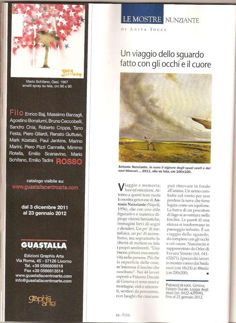 Articoli Nunziante sulla mostra di Genova, su Arte In e Arte Mondadori Scansi11