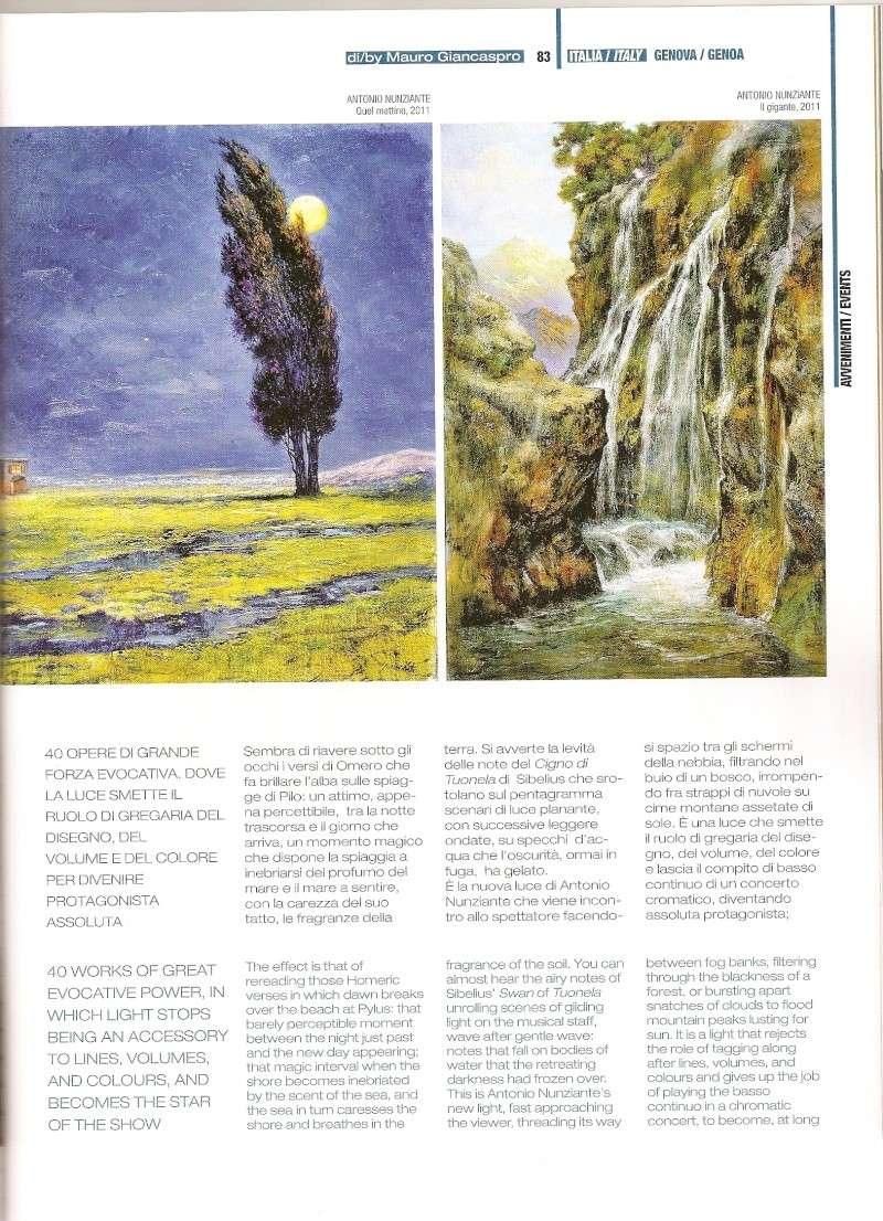 Articoli Nunziante sulla mostra di Genova, su Arte In e Arte Mondadori Scansi14