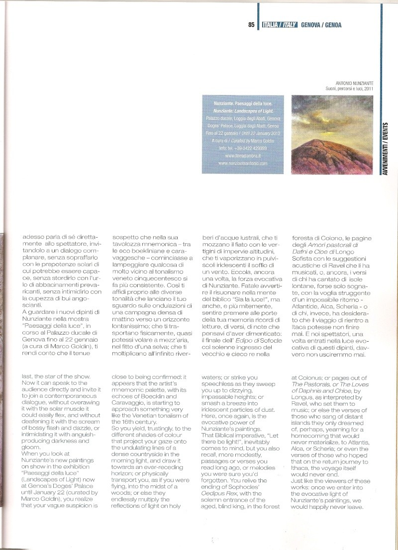 Articoli Nunziante sulla mostra di Genova, su Arte In e Arte Mondadori Scansi16