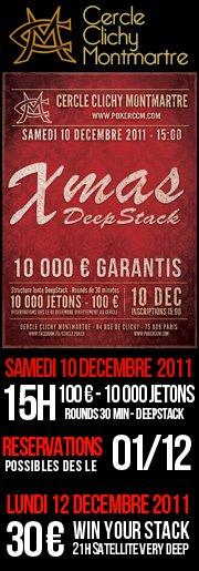 Xmas au cercle CCM le 10/12, 100€, 10000€ garanti.. Deepstack ++ 21116210