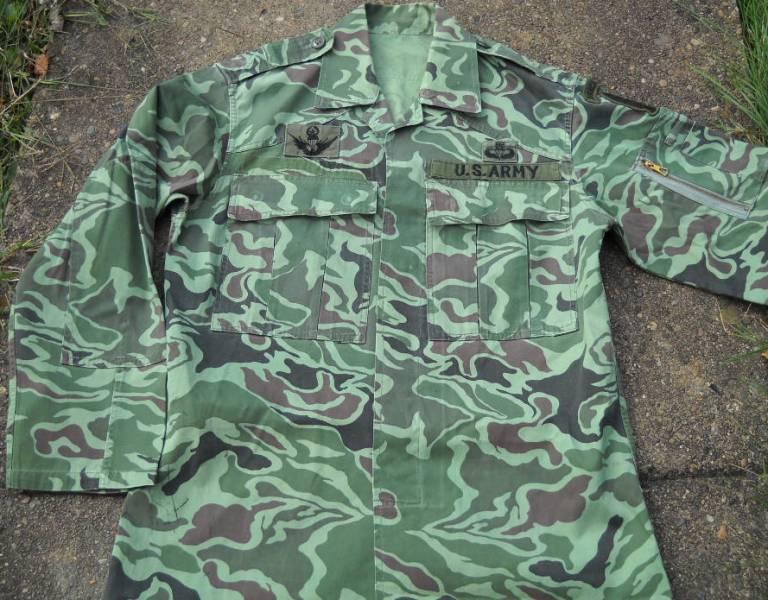 Unusual US Special Forces Advisors Uniform - South Korean Wave/Noodle Pattern 00118