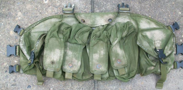 Spray Painted and Modified Blackhawk Commando Chest Rig 00125
