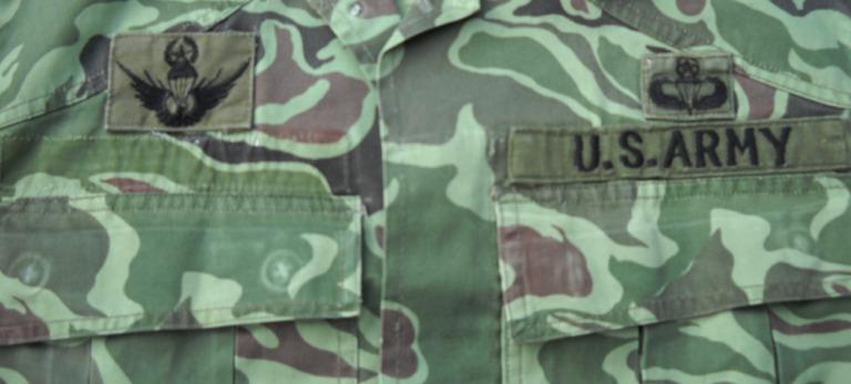 Unusual US Special Forces Advisors Uniform - South Korean Wave/Noodle Pattern 00219