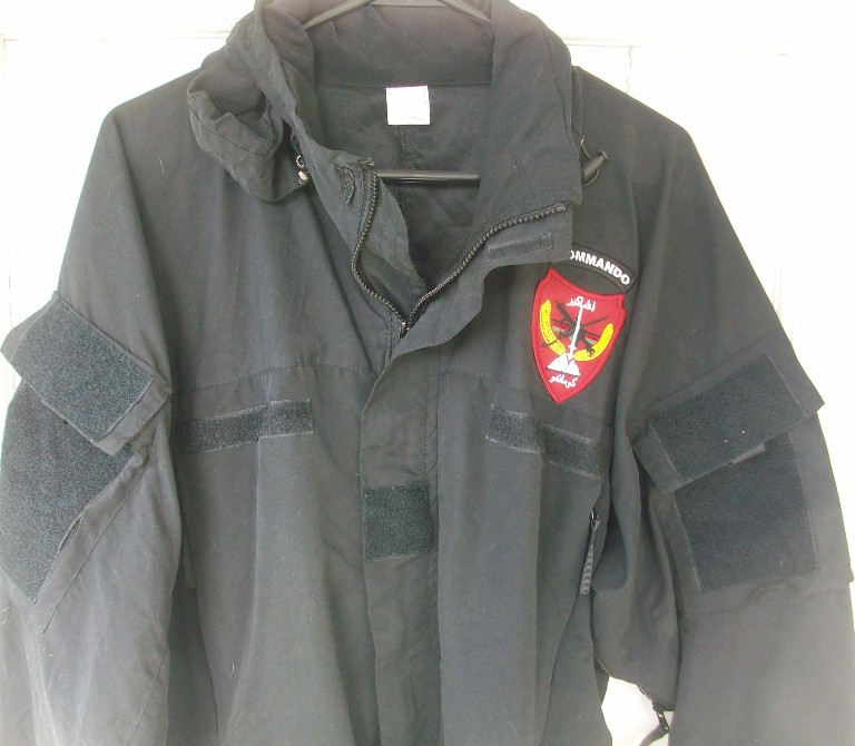 Afghan Commando Black Soft Shell Jacket 00519