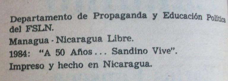 1980's Nicaraguan FSLN Propaganda Booklets 00547