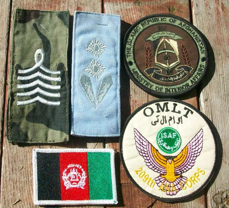 Various Afghan Patches - ANA & ANP 00628