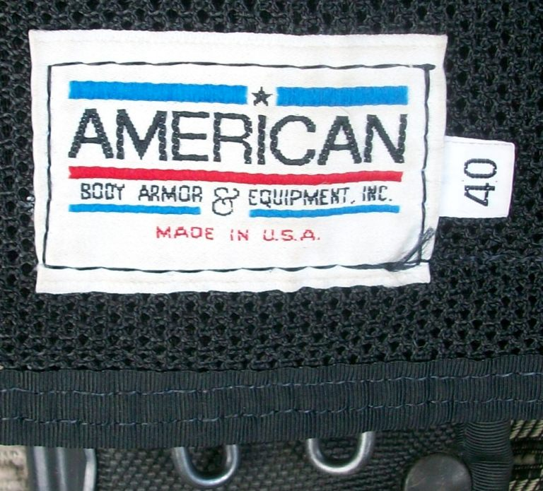 American Body Armor Black Modular Vest 00635