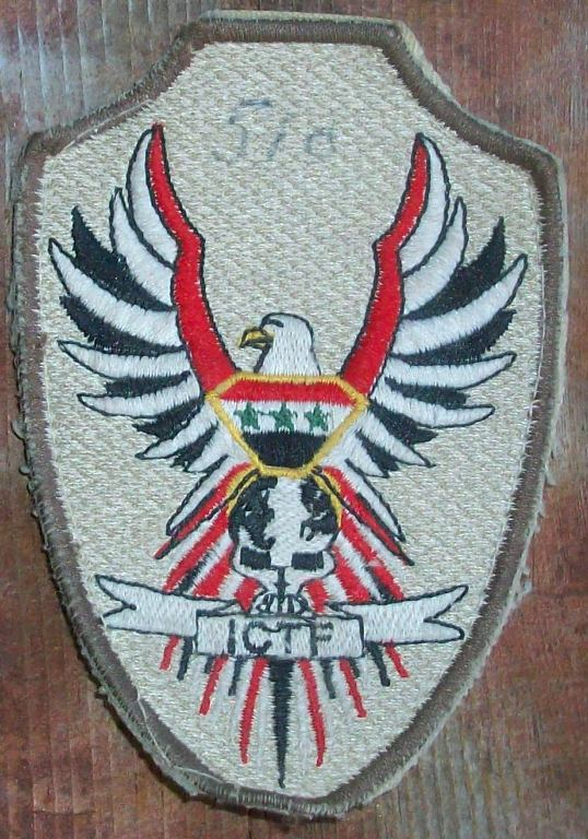 Iraqi Counter Terrorism Forces Patch 02411