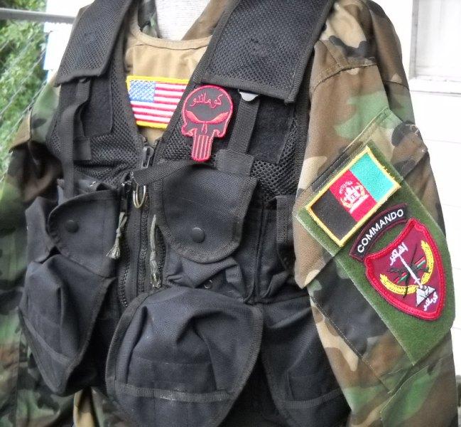 Afghan Black Assault Vest - A. Qahir Brief Case Maker Kandahar Afghanistan 03810