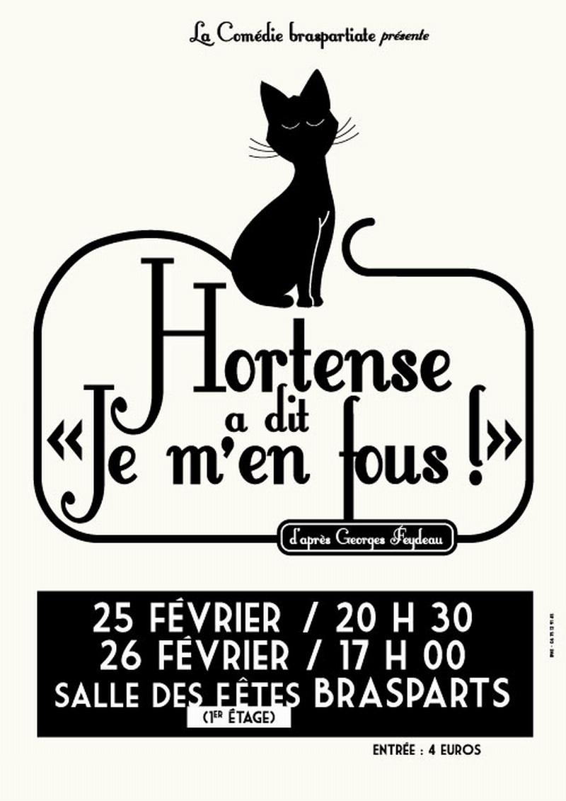 """Théâtre à Brasparts : """"Hortense a dit : Je m'en fous ..."""" Affich15"""