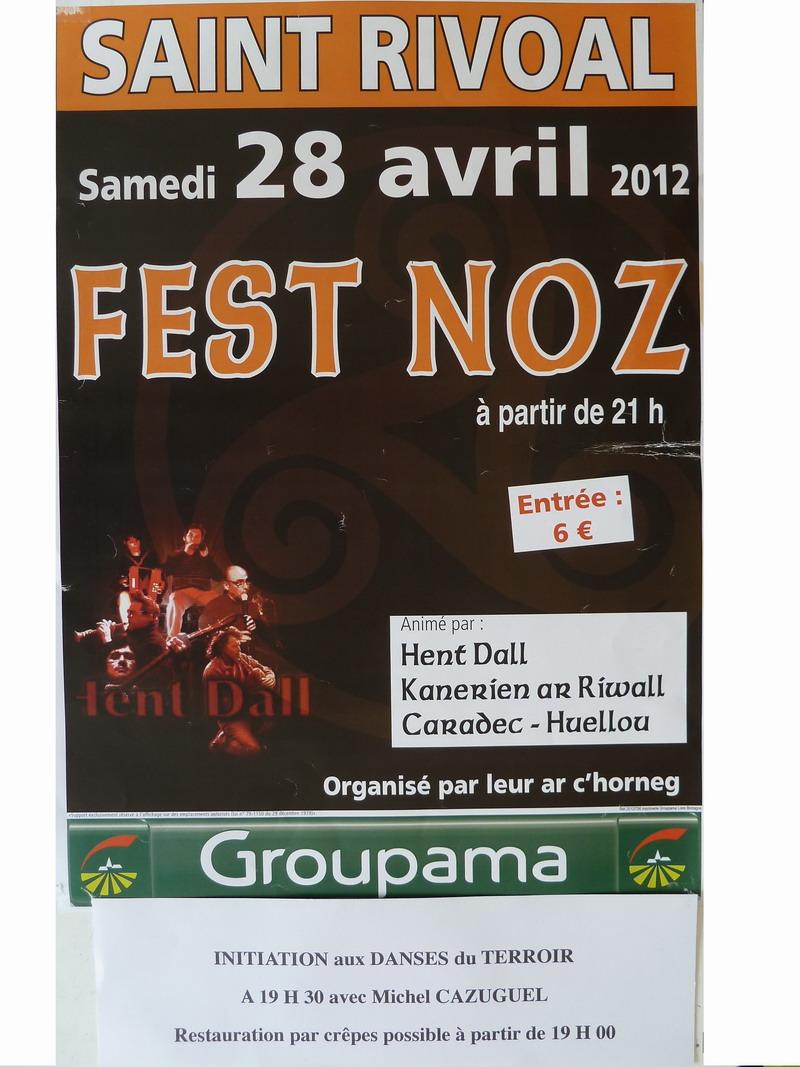 Fest Noz à Saint Rivoal le 28 avril avec initiation aux danses du Terroir Brasparts-Saint Rivoal Affich17