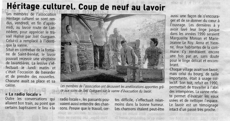 Le lavoir de Brasparts visité par les enfants de l'école Sainte Thérèse File0067