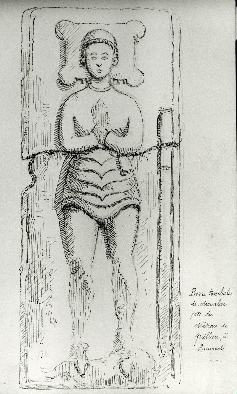 Le gisant d'un ancien chevalier de la famille de Kerret Gisant10