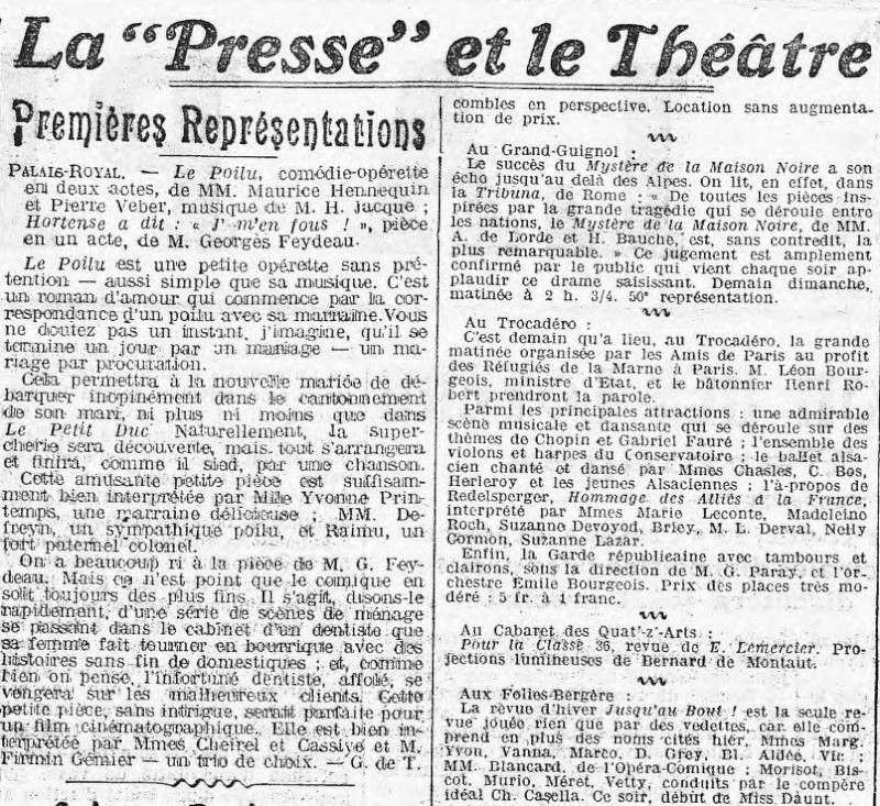 """Théâtre à Brasparts : """"Hortense a dit : Je m'en fous ..."""" La_pre10"""