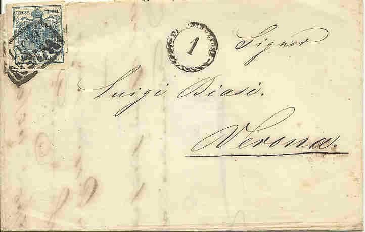 Wien-Stempel von 1850 bis 1858 1850_w10