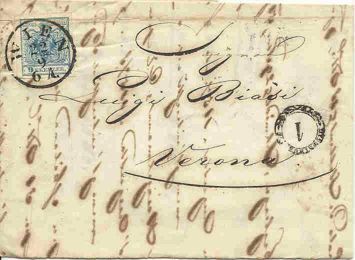 Wien-Stempel von 1850 bis 1858 1850_w11