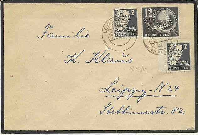DDR - Briefmarkenausgaben 1949  Ddr_2410