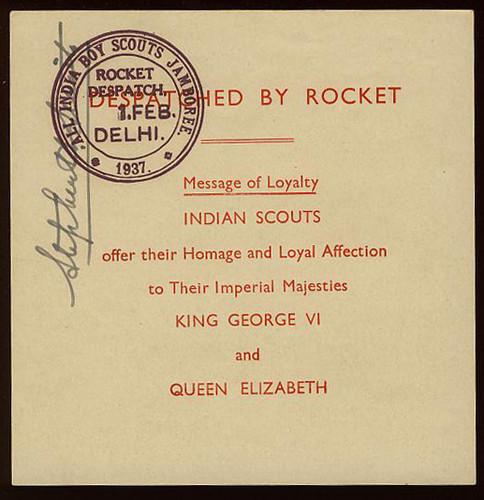 Pfadfinder - Raketenpost 1937 Indien10