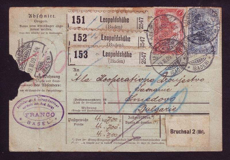 Deutsches Reich 1900 bis Mai 1919 - Germaniazeichnung Paketk10