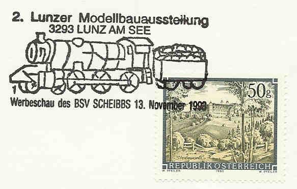Motiv Eisenbahn im Stempel Sost_b11