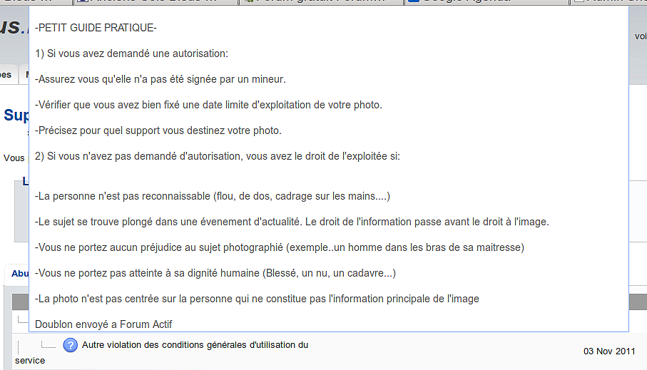 "Abus signalé sur mon forum origine ""service"" + copie forumactif Captu145"