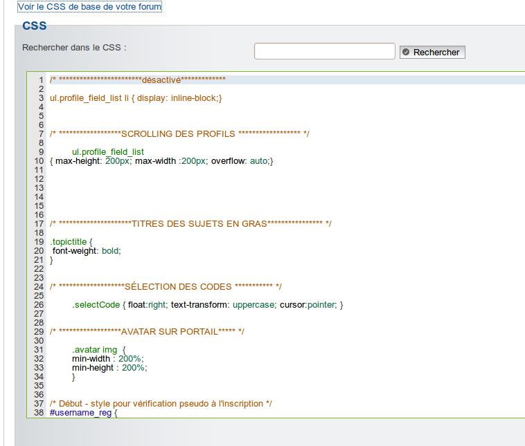 Nouveau: Règlement spécifique a chaque sous forum, Coloration syntaxique du CSS & Templates, Optimisation du systhème AntiSpam et de la gestion des JavaScripts. Captu146