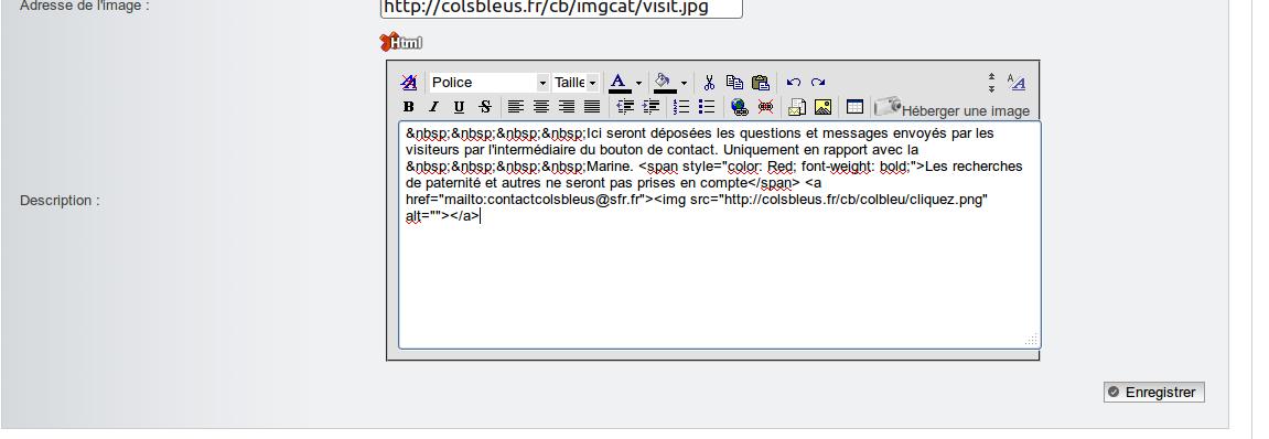 probème avec HTML du PA Captur35